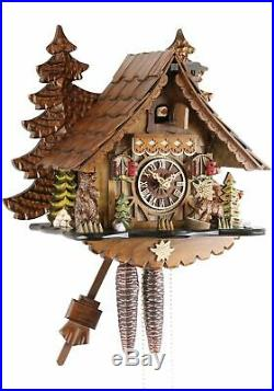 Eble -bären 23cm- 24739 Cuckoo Clock Original Black Forest Real Wood M