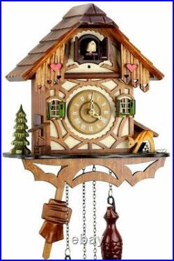 Eble -fachwerkhaus 24cm- Cuckoo Clock Cuckoo Clock Real Wood New Batteriebe