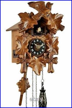 Eble -fünflaub 22cm- 85990000 Cuckoo Clock Real Wood New Batteriebet