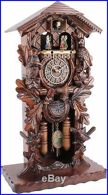 Eble -stand/Table Clock 54cm- 24176 Cuckoo Real Wood New Battery-Powered
