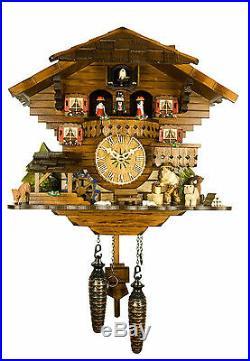Engstler Quartz Cuckoo Clock The Busy Wood Chopper AH 4901 QMT NEW