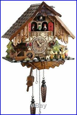 Engstler -biertrinker 34cm- 48717 Qmt Cuckoo Clock Real Wood New Batter