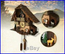 European Country Solid Wood Cuckoo Bird Coo Living Room Bedroom Wall Clock #