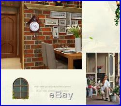 European Garden 14 Inch Wooden Cuckoo Coo Bedroom Rocking Wall Clock #