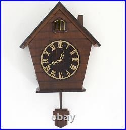 European wood Cuckoo wall clock quartz timekeeping clock Vintage Antique clock