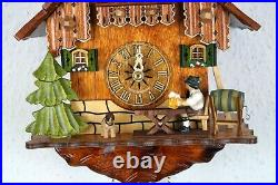 G Handmade Black Forest Cuckoo Clock Chalet Style