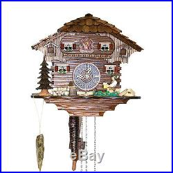 Genuine 10 Black Forest Cuckoo Clock 1 Day Chalet 14-10