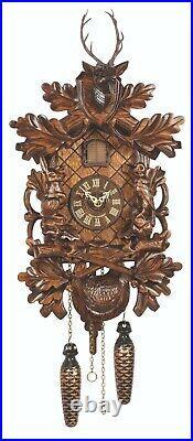 German Black Forest Quartz Cuckoo Clock Hunting Clock