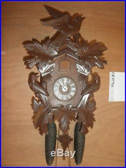 German Black Forest made Cuckoo Co. Linden Wood 8 Day Cuckoo Clock CK2596