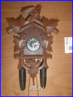 German Black Forest made Herbert Herr Linden Wood 8 Day Cuckoo Clock CK2081