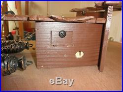 German Black Forest made Herbert Herr Linden Wood 8 Day Cuckoo Clock CK2259A