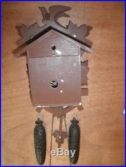 German Black Forest made Herbert Herr Linden Wood 8 Day Cuckoo Clock CK2267