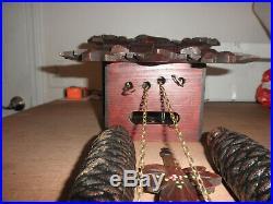 German Black Forest made Herbert Herr Linden Wood 8 Day Cuckoo Clock CK2532