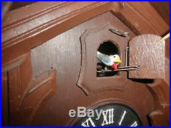 German Black Forest made Herbert Herr Linden Wood 8 Day Cuckoo Clock CK2565