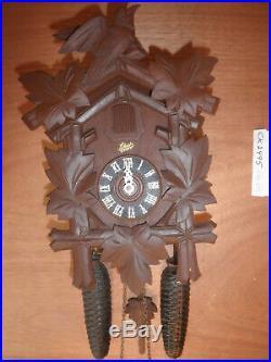 German Black Forest made Schatz Linden Wood 8 Day Cuckoo Clock CK2495