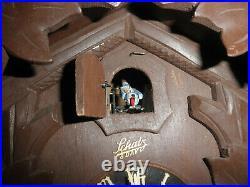 German Black Forest made Schatz Linden Wood 8 Day Cuckoo Clock CK2681