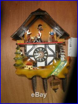 German made Vintage Musical Woodchopper 1 Day Cuckoo Clock CK2285A