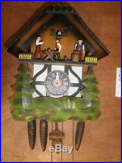 German made Vintage Musical Woodchopper 1 Day Cuckoo Clock CK2290