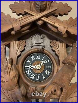 Germany Carved Black Forest Wood Classic Cuckoo Clock 1972