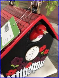 Gone! Kate Spade New York Ooh La La Cuckoo Clock Leather Handbag, Nwt