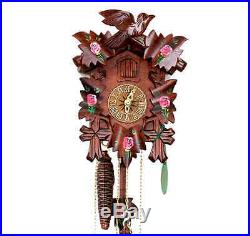 HEKAS Black Forest Cuckoo Clock Roses NewithOriginal Packaging Pendulum