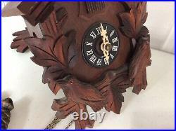 HUBERT HERR Black Forest Cuckoo Clock Germany Carved