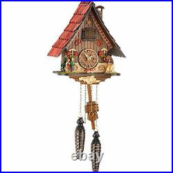 Hansel & Gretel Quartz Cuckoo Clock with Witch & 12 tunes 466QM Black Forest