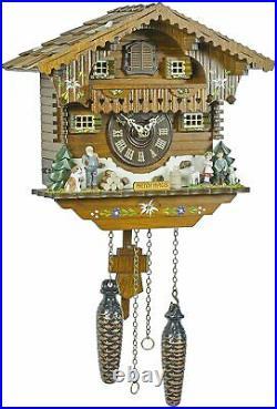 Heidi House Quartz Cuckoo Clock with Music TU405QM
