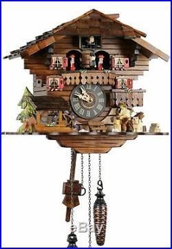 Holzhacker 30cm- Cuckoo Clock Cuckoo Clock Real Wood New Battery