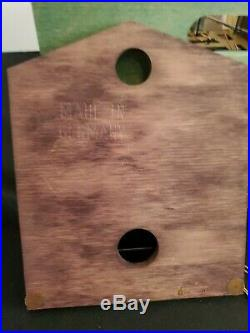 Hubert HERR Black Forest German Wood Musical Cuckoo Clock WithTag Docs Edelweiss