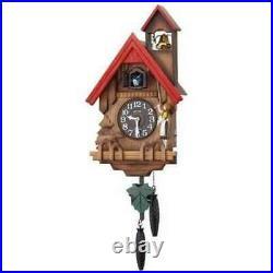 Japan Rhythm Clock Wall Clock Analog Cuckoo Tyrolean 4MJ732RH06 NEW