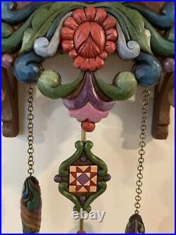Jim Shore Retired Heartwood Creek Masterpiece Rare Rooster Cuckoo Clock 2008
