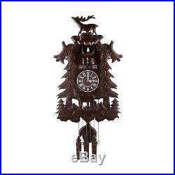 Kendal Vivid Large Deer Handcrafted Wood Cuckoo Clock with 4 Dancers Dancing