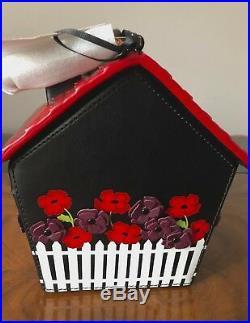 LAST ONE! NWT Kate Spade Rare OOH LA LA Cuckoo Clock Leather Top Handle Bag