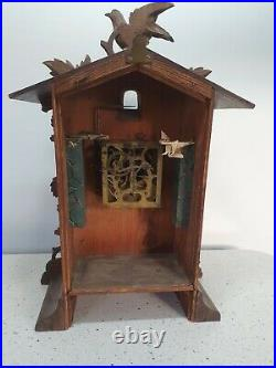 Large Antique Carved German 8 day Cuckoo Clock For Restore