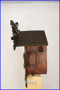Large Antique Working Wall Hanging Cuckoo Clock By Gordian Hettich Sohn. G. H. S