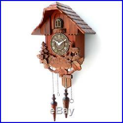 Large Vintage Bird Clock Hardware Wood Cuckoo Wall Clock Home Decor Decoration