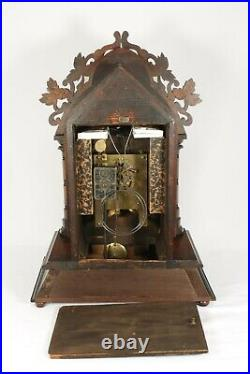 Large Working Antique 8 Day Cuckoo Mantel Clock Made By Junghans