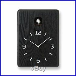 Lemnos CUCU Cuckoo Clock Wall Clock Black LC10-16 BK 3987 F/S withTracking# Japan