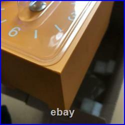 MUJI Cuckoo Yellow Clock Rare Limited Edition Handmade Bellows 2014 JAPAN