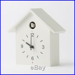 MUJI Mechanical Cuckoo Wall or Put Clock White with Light Sensor