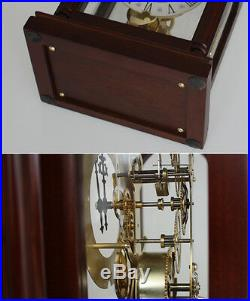 Mechanical clock Creative Antique table clock European retro wood clock