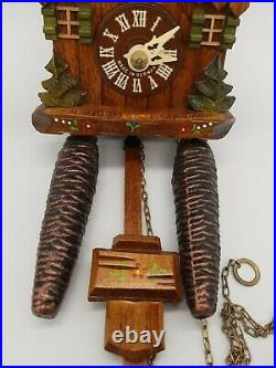 Miniature Black Forest Cuckoo Clock Hubert Hurr