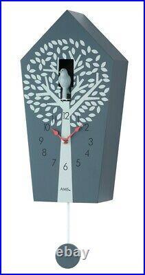 Modern quartz Cuckoo Clock with cuckoo call AM W7287 NEW