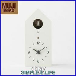 Muji Japan White Cuckoo Clock Handmade Bellows With Tracking