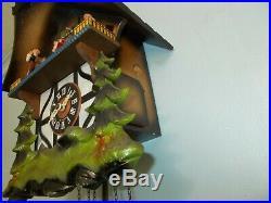 Musical Cuckoo Clock Wood Chopper See Video