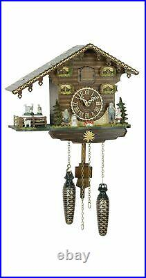 Musical Quartz Cuckoo Clock with 12 tunes, Heidi and Turning Goats 434QMT