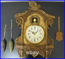 NEW DIYIDA WOODEN FRAMED LARGE WALL CUCKOO CLOCK CHIME With AUTOMATIC SHUT-OFF