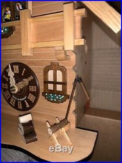 NEW German Black Forest Natural Wood Chalet Cuckoo Clock Herbert Herr