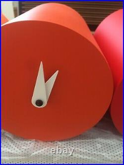 NEW Progetti Tris Italian Cuckoo Clock Red Orange STUNNING FREEPOST